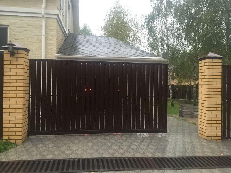 Ворота откатные механические