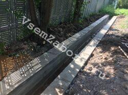 Бетонирование и крепление стен дренажной канавы под забор
