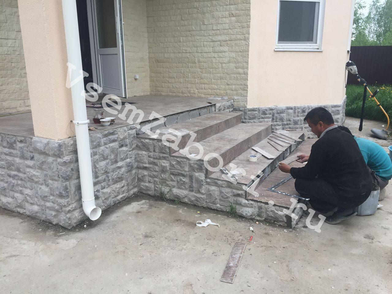 крыльцо из бетона для частного дома купить