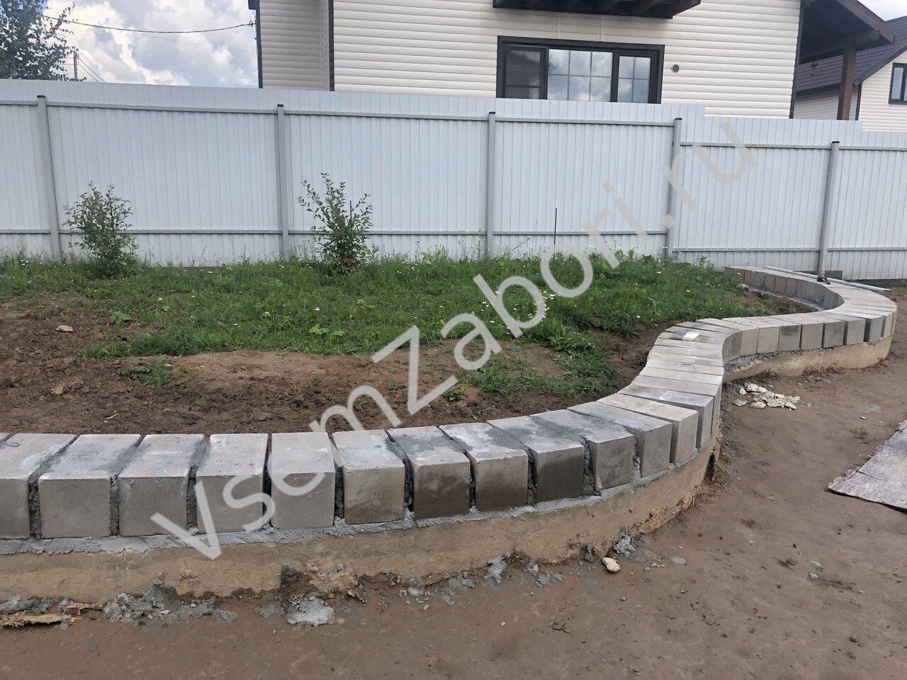 Купить подпорную стенку из бетона стоимость мешка цемента м500 в москве